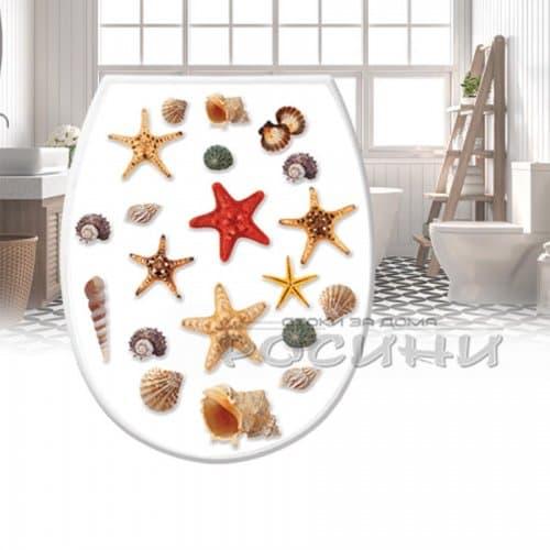 """Капак-седалка за тоалетна чиния """"Морска звезда""""/WC капак"""
