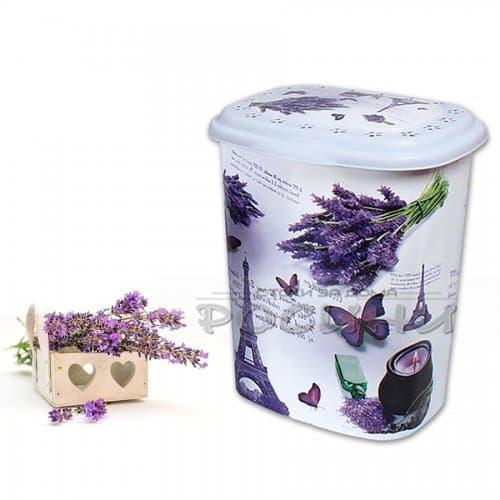 Кош с капак за дрехи, пране Lavender