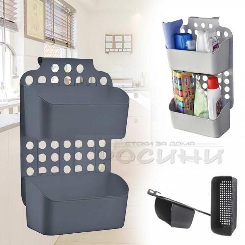 Регулируем висящ органайзер за препарати и принадлежности/органайзер за окачване на врата