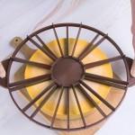 Сладкарски Сет за торта от 3 части - Въртяща стойка, силиконова кръгла подложка за моделиране на торта, разделител на 10 и 12 парчета