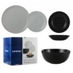 Luminarc Сервиз за хранене 19 части Diwali Black and Granit
