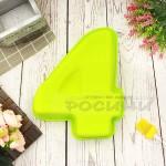 Силиконова форма ЦИФРА 4 за торта, сладкиш/силиконов молд