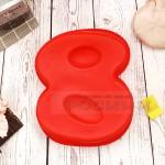 Силиконова форма ЦИФРА 8 за торта, сладкиш/силиконов молд
