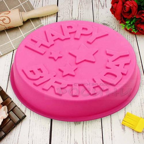Силиконова форма за торта с надпис HAPPY BIRTHDAY/силиконов молд
