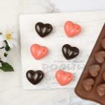 Силиконова форма за шоколадови бонбони Сърца 15 гнезда