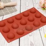 Силиконова форма 15 полусфери за шоколад, сладки, топчета/силиконов молд