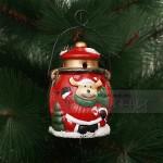 Керамичен Коледен фенер с цветни светлини