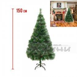 Коледна зелена елха с бели връхчета 150см.