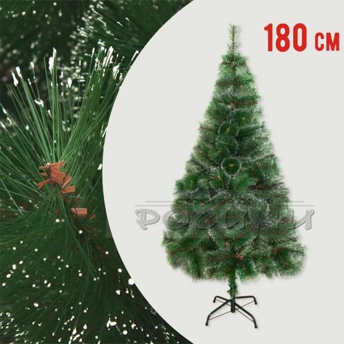 Коледна зелена елха с бели връхчета 180 см.