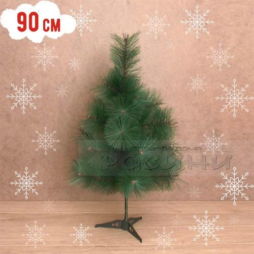 Коледна зелена декоративна елха 90 см.