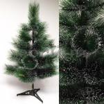 Коледна зелена елха с бели връхчета 90 см.