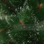 Коледна зелена елха с бели връхчета 210см.