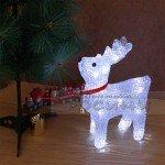 Светеща фигура Коледен Елен 23 см./украса за Коледа