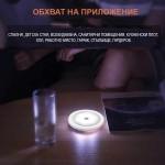 Мини LED сензорна нощна лампа с 6 светодиода и закачалка