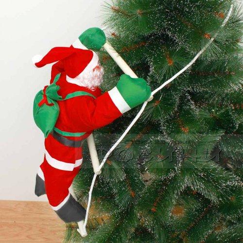 Декоративен Дядо Коледа на стълба 60 см.
