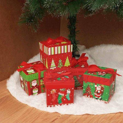 Коледна кутия за подаръци 10 см.