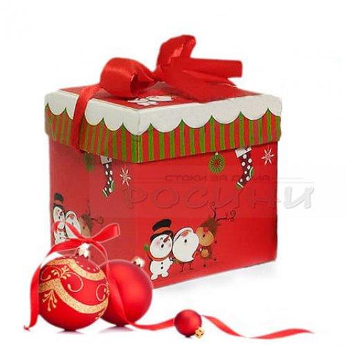 Голяма Коледна кутия за подаръци 30 см.