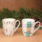 Чаша с Коледни мотиви