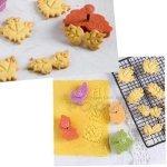 Комплект форми резци за сладки и фондан с бутало и печат Листа