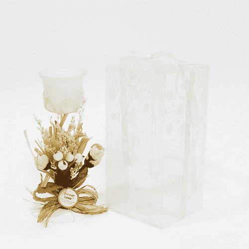 Свещник с декорация 19см./свещници за подарък