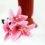Декоративен букет лилиум/изкуствени цветя за декорация