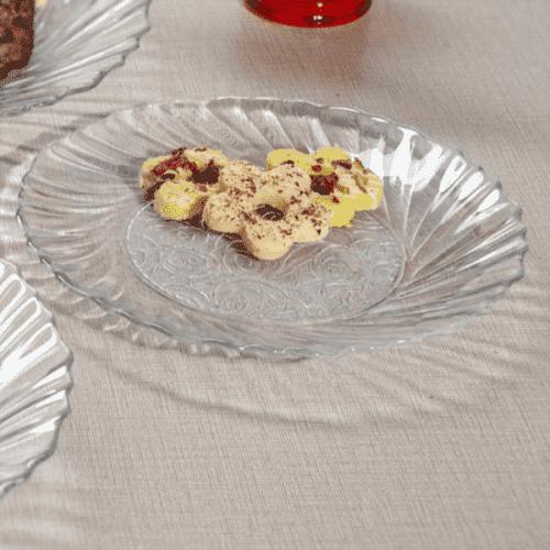 Сервиз стъклени чинии 18см. Dayana/6бр. чинии за десерти