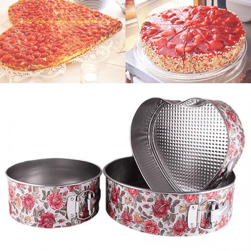 Комплект форми за блат,торта 1бр. сърце и 2бр. кръгли