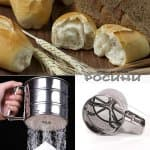 Сито за брашно и пудра захар с въртящ механизъм, 250 гр.