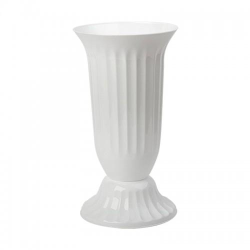 ПВЦ ваза в бяло 39см