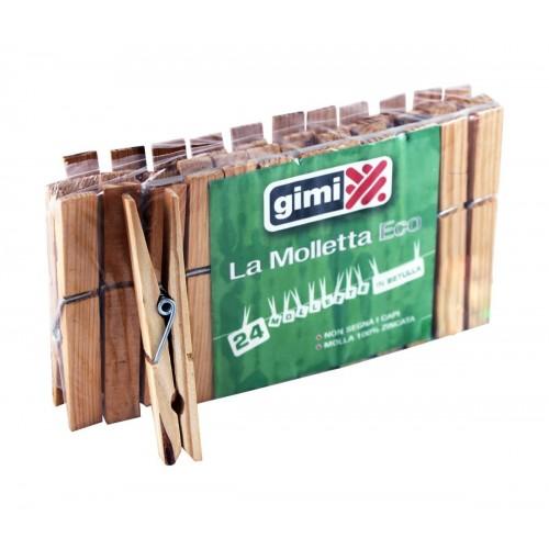 Щипки за пране дървени 24бр.