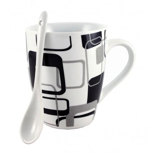 Чаша с лъжичка Black and White